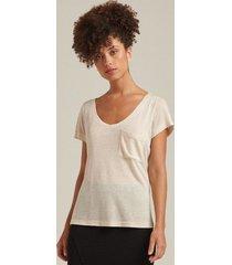t-shirt linho aruba off white g