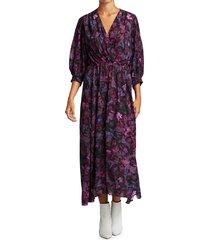 iro women's floral midi dress - black - size 40 (8)