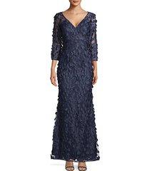 3d floral mermaid gown