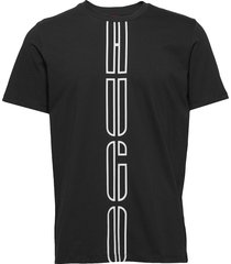 darlon203 t-shirts short-sleeved svart hugo