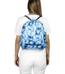 tula plegable estampado tie dye citybags multicolor