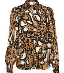 lorigz shirt so20 blouse lange mouwen bruin gestuz