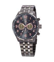 relógio cronógrafo seculus masculino - 20817gpsgss1 grafite