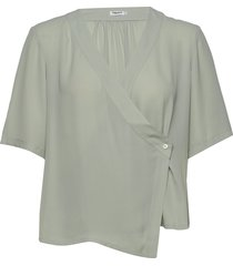 reagan blouse blouses short-sleeved groen filippa k