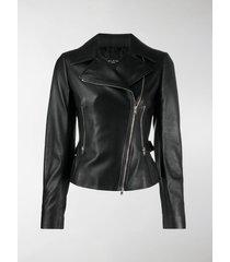 alaïa zip-front biker-style jacket