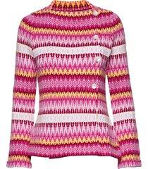 siv cotton stickad tröja cardigan rosa jumperfabriken