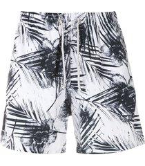 track & field beach ultramax printed swim shorts - white