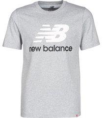 t-shirt korte mouw new balance stacked logo tee