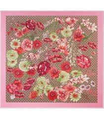 gucci spring bouquet modal silk shawl - multicolour