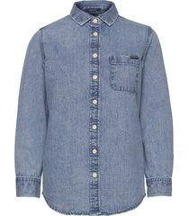 denim classic shirt långärmad skjorta blå superdry