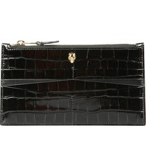 alexander mcqueen flat wallet with zip
