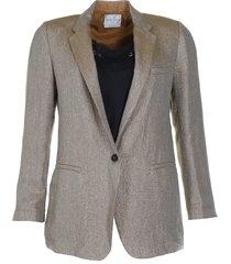 forte_forte blazer my jacket goud
