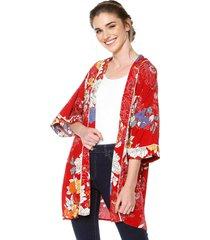 kimono rojo-multicolor active