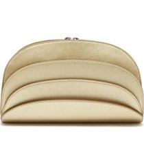 millefoglie c layered leather clutch