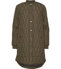 kashally quilted coat doorgestikte jas groen kaffe