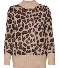 pullover-knit heavy stickad tröja brun brandtex