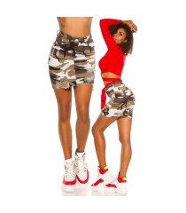 trendy camouflage rok gebruikte look leger