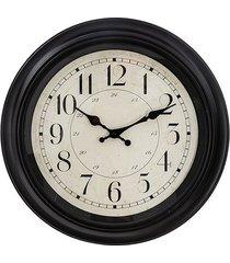 zegar retro na ścianę czarny