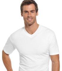 alfani men's underwear, tagless cotton spandex 2 pack v neck undershirts