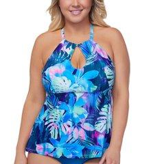 raisins curve trendy plus size vieques rosalie underwire tankini top women's swimsuit