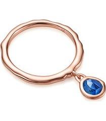 rose gold siren charm ring kyanite