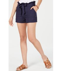 roxy juniors' belted paperbag shorts