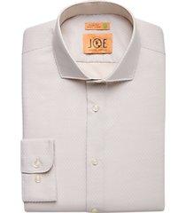 joe joseph abboud repreve® ivory floral slim fit dress shirt