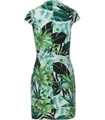 vestido floral verde color blanco, talla 6