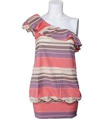 miss sixty jurk - odessa asymmetric dress - roze