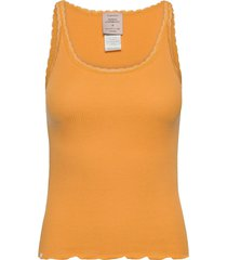 cotton top regular w/ lace t-shirts & tops sleeveless orange barbara kristoffersen by rosemunde