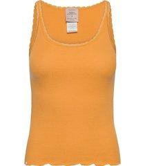 cotton top regular w/ lace t-shirts & tops sleeveless orange barbara kristoffersen by rosemunde