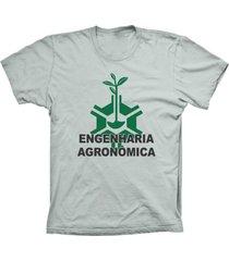 camiseta lu geek manga curta engenharia prata