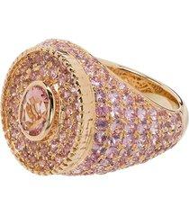 o thongthai 14k yellow gold sapphire ring - pink