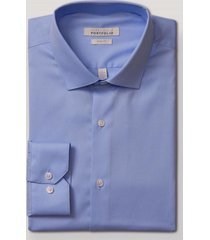 camisa formal liso celeste perry ellis