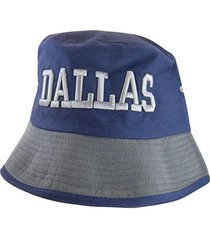 dallas men's adult size 2-tone bucket hats (navy/gray)