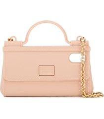 dolce & gabbana handbag phonecase - neutrals