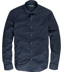 cast iron donkerblauw overhemd semi slim fit