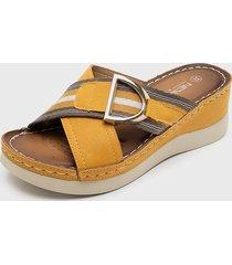 sandalia amarillo new walk
