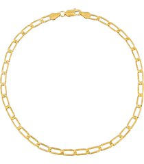 adina's jewels twisted paperclip anklet in gold at nordstrom