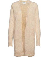 brook knit cape stickad tröja cardigan beige second female