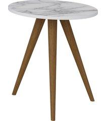 mesa lateral 500 branco/carrara be mobiliã¡rio - branco - dafiti