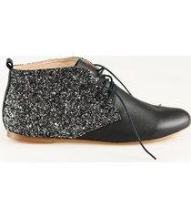 buty płaskie black&gold