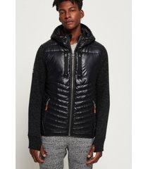 superdry storm hybrid zip hoodie