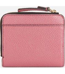 marc jacobs women's mini compact zip wallet - dusty ruby