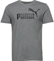 ess logo tee t-shirts short-sleeved grå puma