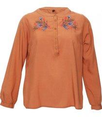 blusa marrón jessy sabina