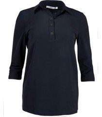 penn & ink blouse navy s21m-lux   penn&ink n.y.