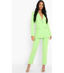 tall getailleerde neon broek, neon-green