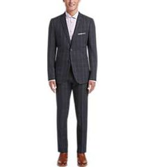 paisley & gray slim fit suit separates coat gray windowpane