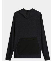 chaqueta tipo hoodie textura glitch bolsillo contraste - active underwater